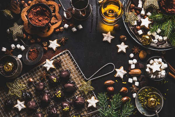 Food Stock Photos: VICUSCHKA - Christmas sweets background