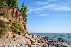 Orlowo Cliff in Gdynia at Baltic Sea