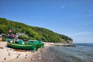 Fishing Boats on Baltic Sea Beach