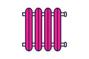 Radiator color icon