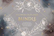 BUNDLE! Flower outlines and patterns