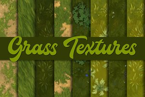 Hand-painted grass textures