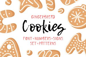 Gingerbread Cookies, Font & Patterns