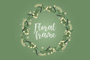 Flat Floral Frames
