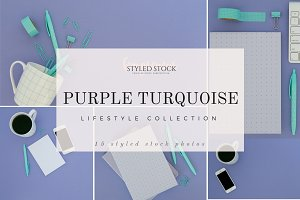Purple Turquoise Styled Stock Photos