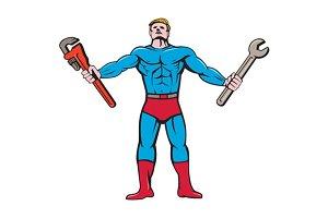 Superhero Handyman Spanner Wrench Ca