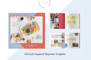 Lifestyle Squared Magazine Template