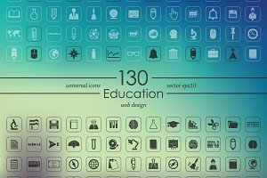 130 education icons