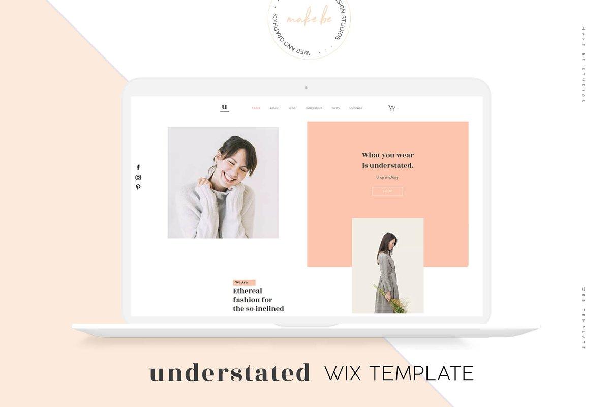 Understated Wix Website Template Website Templates