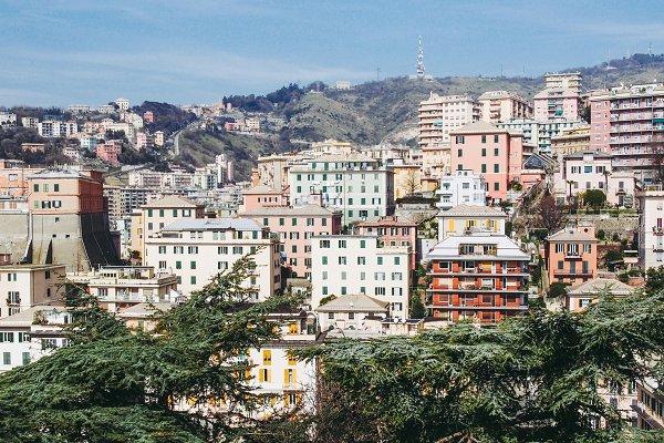 Stock Photos: UK Photos - Europa Fotos - View of Genoa Italy