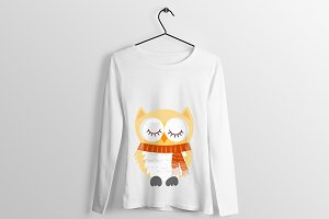 Owl T Shirt Design Art