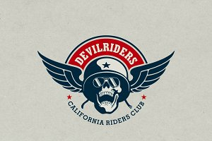 DevilRiders Logo Temp.