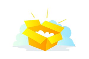 Box by mail package icon. Delivery