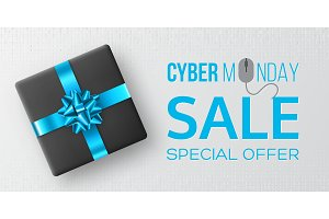 Cyber monday sale poster or banner.