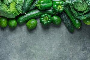 Fresh Organic Green Vegetables