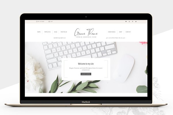 WordPress Photography Themes: Lovely Confetti - Portfolio eCommerce Genesis theme Gr