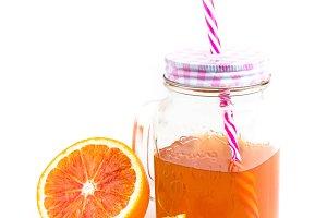 Jar of orange tea