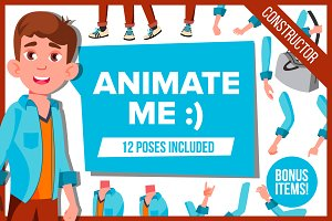 Young Teen Guy Animation Character