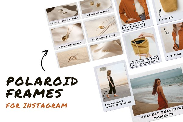 Social Media Templates: Elis Type - POLAROID FRAMES