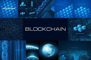 Blockchain Vector Illustrations Set