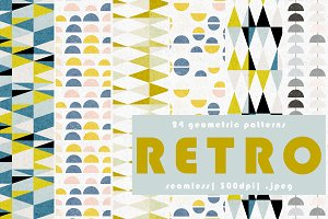 24 Retro Geometric Patterns