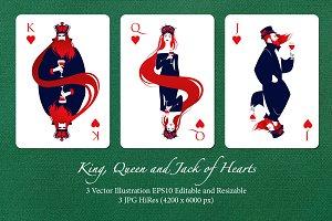 Deck's Figures: Hearts