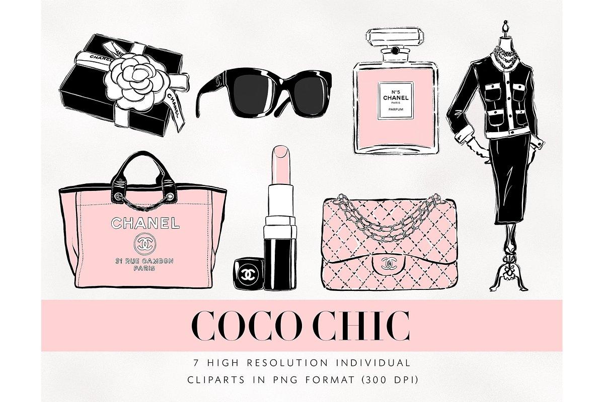 3f3ac9ddd24c Chanel Fashion Cliparts ~ Illustrations ~ Creative Market