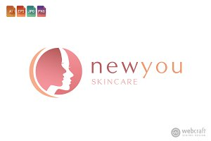 Beauty Dermatology Logo Template 3