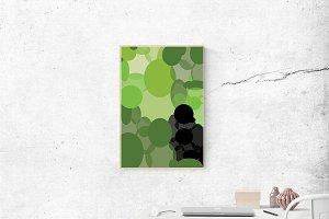 Green and black printable
