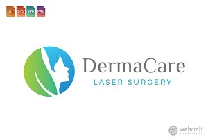 Beauty Dermatology Logo Template 2