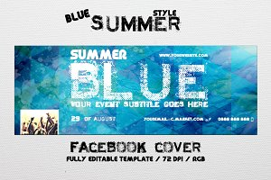 Blue Summer - Facebook cover