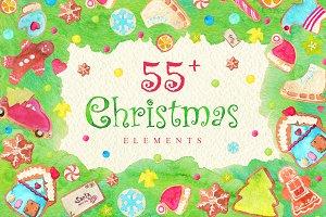 55+ Christmas Elements