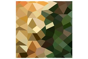 Bronze Yellow Abstract Low Polygon B