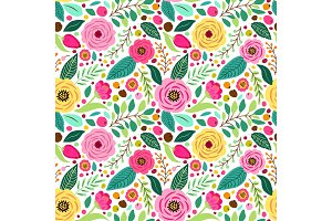 Cute retro seamless pattern with