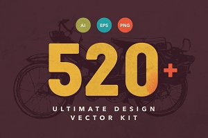 520+ Vector Object Design Kit