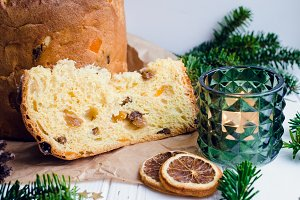Panettone traditional Italian cake
