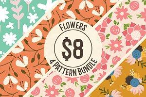 4 Pattern Flower Bundle