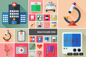 24 Flat Healthcare Vector Icon