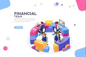 Financial Website Template Banner