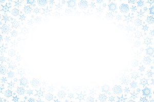 Frame with lots of blue snowflakes