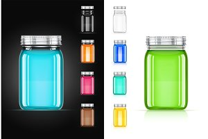 Jar with cap for trendy drink.
