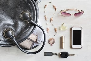 Woman bag and accessories