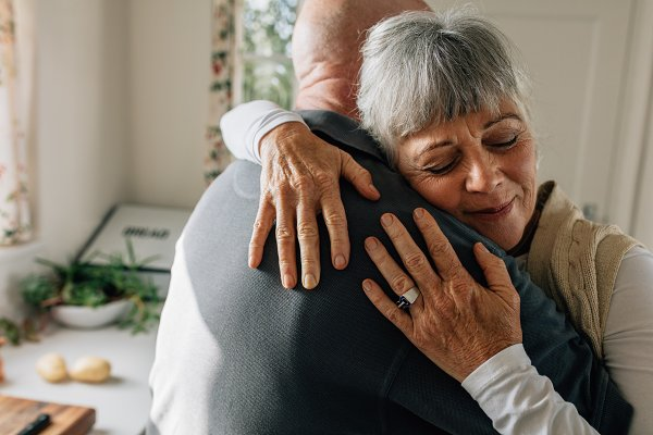 People Stock Photos: Jacob Lund - Senior couple hugging each other