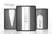 NEW Apple iPad Pro mock up! (PSD+AI)