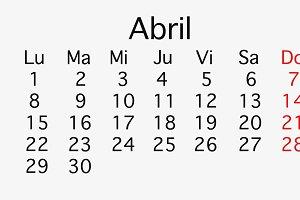 April 2019 planing Calendar