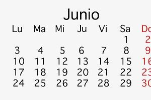 June 2019 planing Calendar