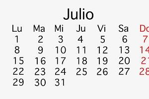 July 2019 planing Calendar
