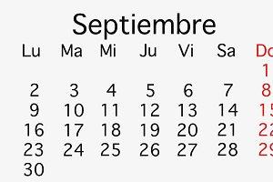 September 2019 planing Calendar