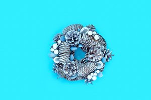 Winter and Christmas wreath with