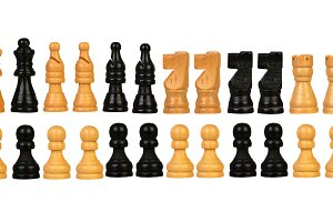 Chessmen Isolated on White